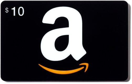 10.00 AMAZON GIFT CARD