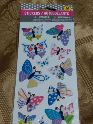 Stickers BNIP. Butterflies. Free shipping