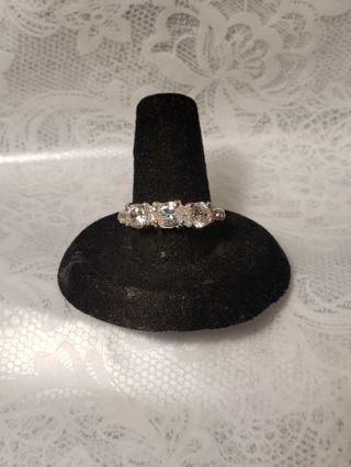 White Topaz Ring size 8