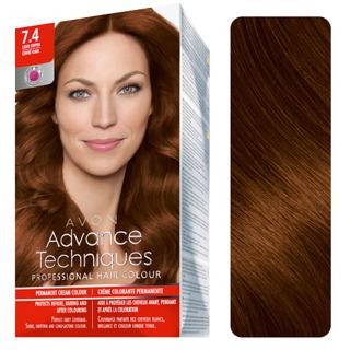 Free: Avon 7.4 Advance Techniques Professional Hair Color Dark ...