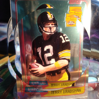 2002 *1981 Terry Bradshaw Topps CHROME RP / Pittsburgh Steelers