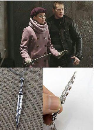 Once upon a time Rumpelstiltskin Dagger Necklace new