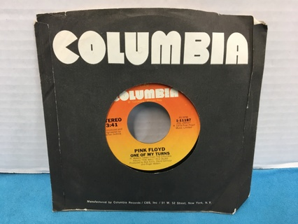 L578 PINK FLOYD 45 RPM RECORD ANOTHER BRICK IN THE WALL PT II ONE OF MY TURNS