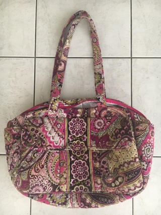 Pink & Fuscia paisley Vera Bradley diaper/baby/travel bag Used mint condition!!!