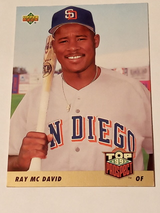 1993 Upper Deck Ray McDavid Top Prospects Card #438..San Diego Padres
