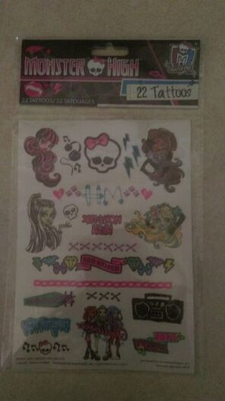 Free shipping Monster high tattoos