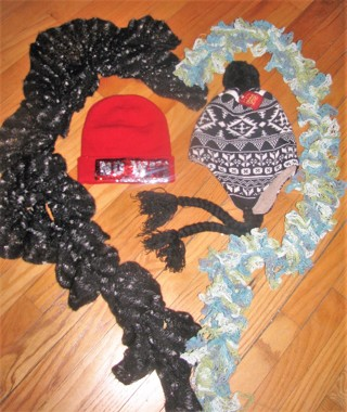 2 new hats and scarf Scarves