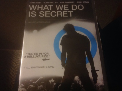 DVD- WHAT WE DO IS SECRET w SHANE WEST
