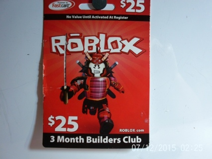 Free Sale 25 Roblox 3 Month Builders Club Card Pc Games Listia Com Auctions For Free Stuff