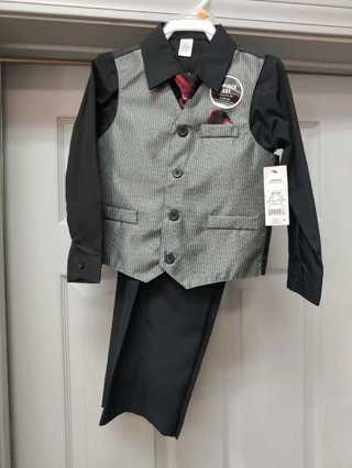 NWT! George --4pc Boys Dress Set--Size 4T  (Great For Christmas Pictures)