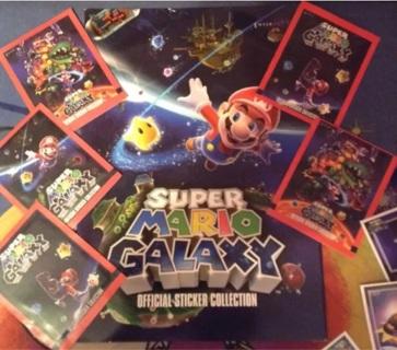 Free: Super Mario Galaxy sticker book+3pks stickers - Other