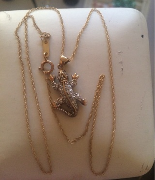 10k Necklace with 10k Pendant Both guaranteed to be SOLID GOLD!