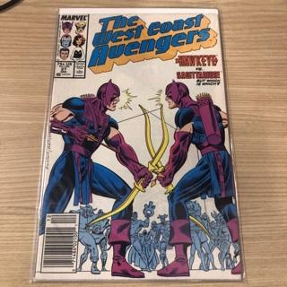 THE WEST COAST AVENGERS Marvel comic 1987