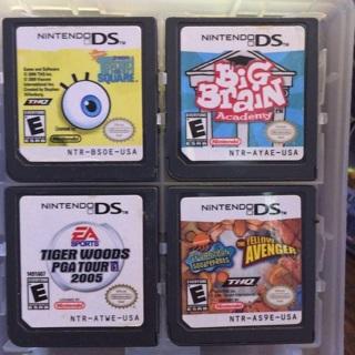 4 Nintendo ds games