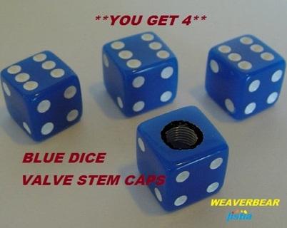 ## BLUE DICE VALVE STEM CAPS ##