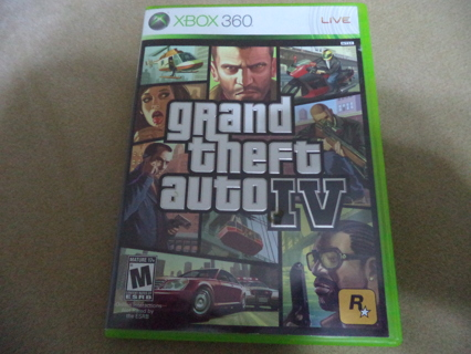free xbox 360 grand theft auto iv gta 4 video game with. Black Bedroom Furniture Sets. Home Design Ideas