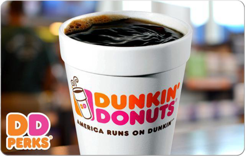 ⚡SUPER LOW GIN⚡ $10.00 Dunkin' Donuts E-Gift Card ($5.00 x 2 = $10.00)* - Digital delivery!
