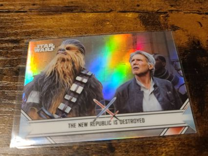 2020 Star Wars Perspectives the new republic is destroyed refractor card