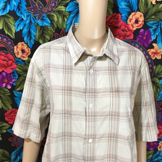 MEN'S QUICKSILVER SHIRT BUTTON COLLAR TOP MEDIUM FREE SHIPPING