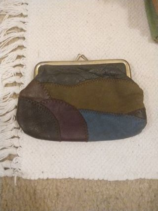 Vintage genuine leather change purse