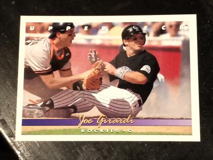 1993 Upper Deck Baseball Card #571 Joe Girardi