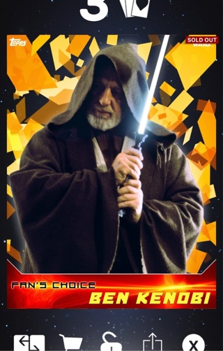 star wars topps digital trading cards