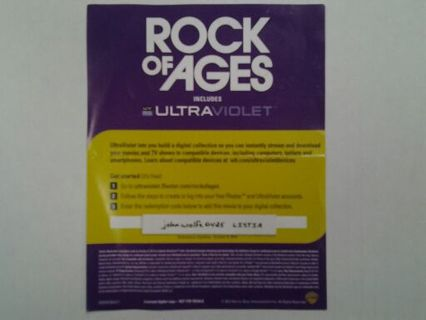 Rock Of Ages Ultraviolet Code ( Brand New ) Experation Date 10/09/2014