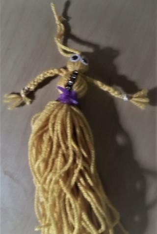 8 inch  handmade doll