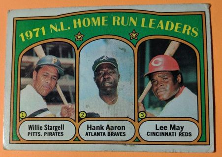 HANK AARON * 1971 HOME RUN LEADERS