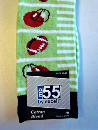 NEW - Men's Fun FOOTBALL THEMED Cotton Blend Dress Socks - Men's Size 10-13 Shoes FREE SHIPPING
