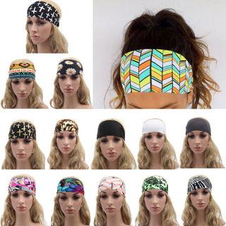 Headband Stretch Hairband Elastic Hair Band Boho Turban