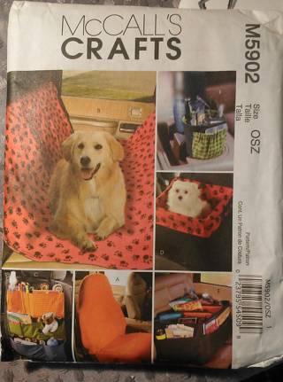 Free: SEW a Pet Seat, Back Seat Cover, Seat Organizer McCalls ...