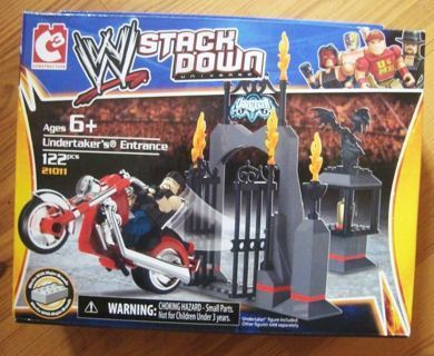NEW WWE Smack Down Stack Down Universe Undertakers Entrance BUILDING BLOCK SET Free Shipping