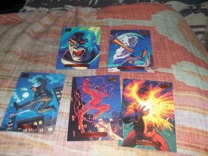 ^^*   5 random marvel cards  *^^