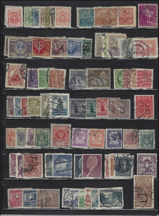 Classic Era (pre 1940) Poland Stamps large group