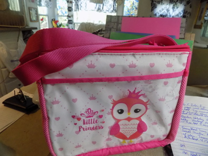 Little Princess owl insulated large pink lunchbox
