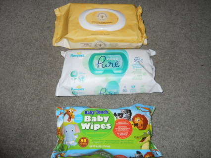 3 Packs Baby Wipes-Free Shipping.!!
