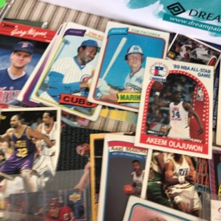 Shoe Box full of sports cards from 1970's-90's