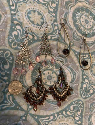 3 Pair of Earrings, Free Shipping !