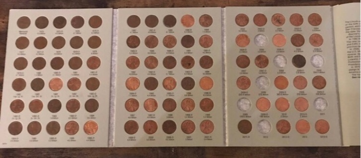 83 Coins Penny Pennies Coin Collectors Book