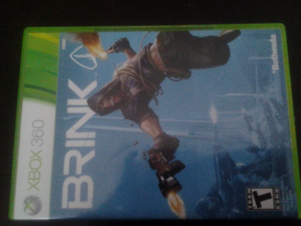 Brink xbox 360 game and case