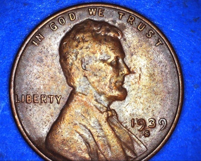 1939 s lincoln wheat penny