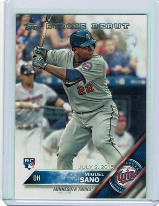 Miguel Sano Rookie 2016 Topps Minnesota Twins