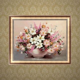 Flowers Vase DIY 5D Full Diamond Rhinestone Embroidery Painting Craft Decor