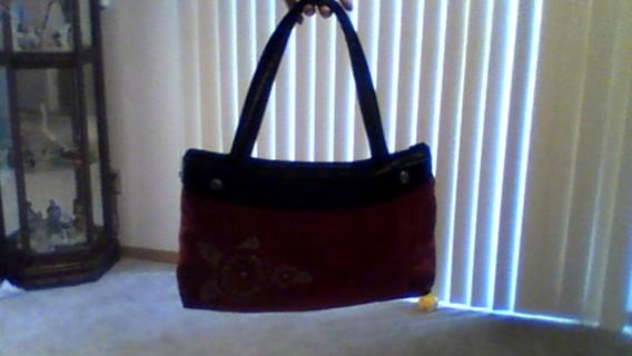 Stylish Red Handbag Washable