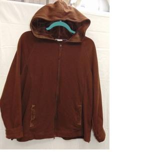 TRENDY & STYLISH Brown Plus Size Sweatshirt Zip Down Hoody