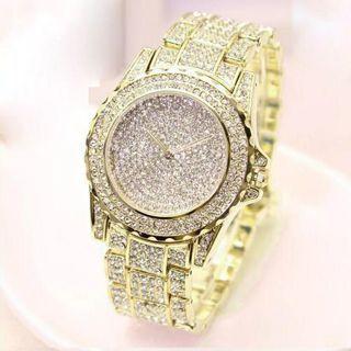 Diamonds Men's Watch Silver Gold Luxury Wrist Watch Men Women Unisex Hombre Quartz Wrist Watch
