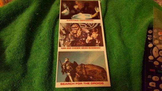 VINTAGE STAR WARS!!■1981 BURGER KING/ COCA-COLA ■ FULL ,UNCUT SHEET OF 3■FREE $HIPPING