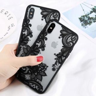 Slim Clear Silicone Lace Flower Pattern Case Cover For iPhone X 8 7 6S Plus 5 SE