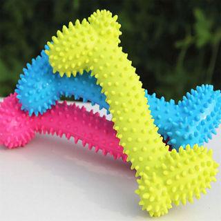 Pet Dog Toy Teething Healthy Gums Chew Bone Random Color 1 PC Dog Supplier Toy